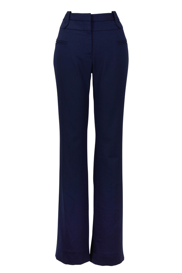 Altuzarra Serge Berry Blue Stretch Wool Pant