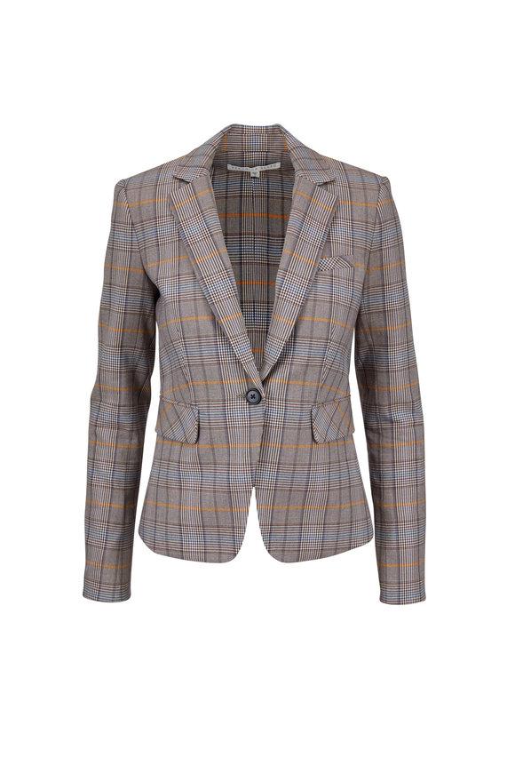 Veronica Beard Lawson Brown Plaid Schoolboy Dickey Jacket