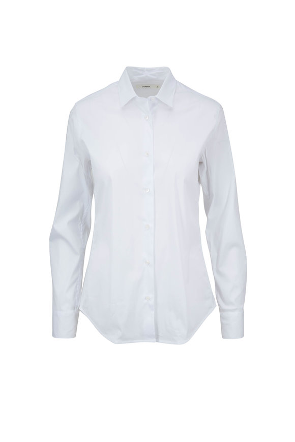 Lareida Pauline White Stretch Cotton Blouse