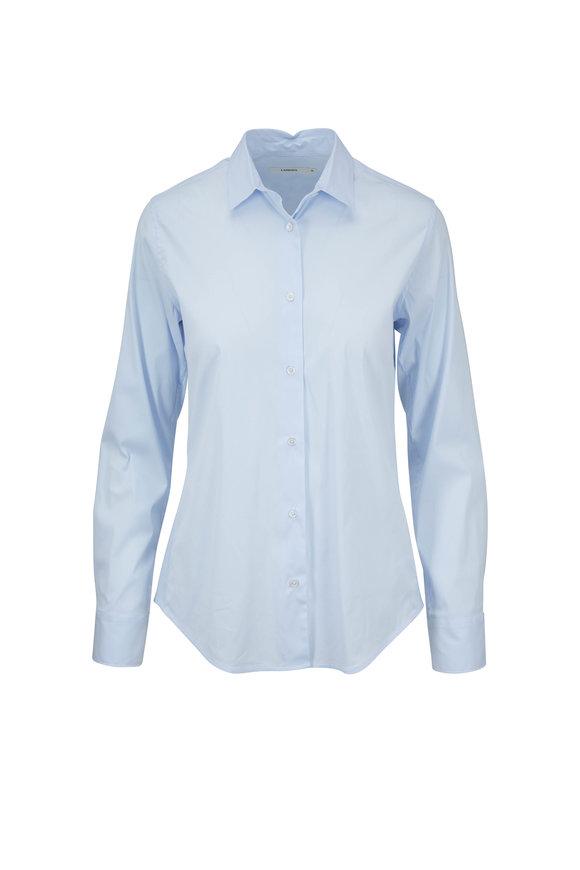 Lareida Pauline Light Blue Stretch Cotton Blouse