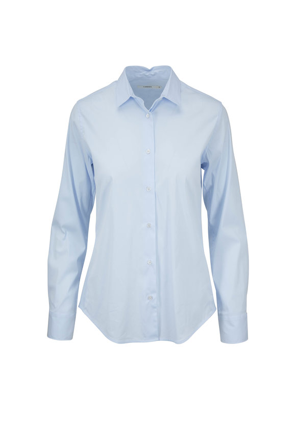Lareida Pauline Light Blue Stretch Cotton Blouse