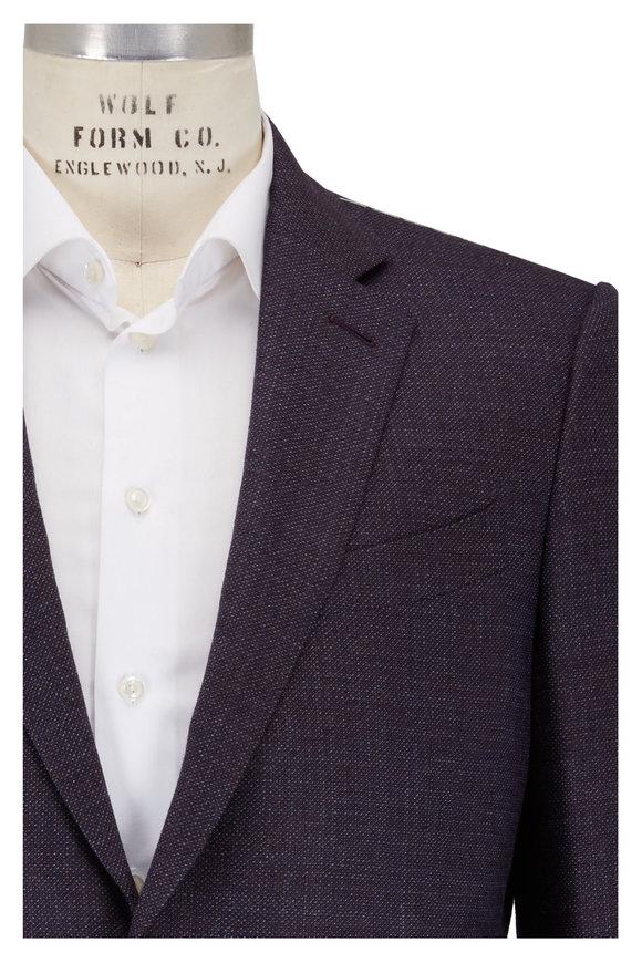 Ermenegildo Zegna Blue & Brown Wool Sportcoat