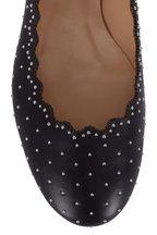 Chloé - Lauren Black Silver Studded Leather Ballet Flat