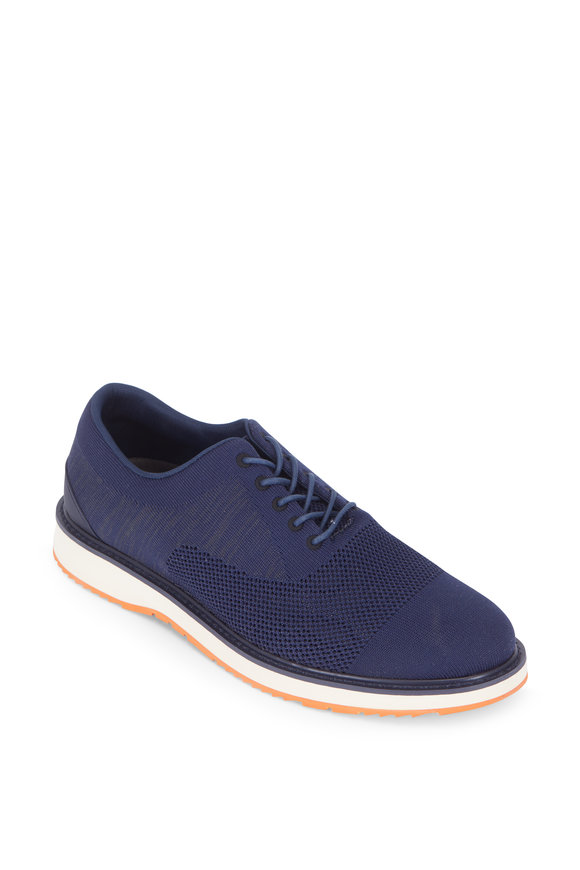 Swims Barry Navy Oxford Knit Derby Sneaker