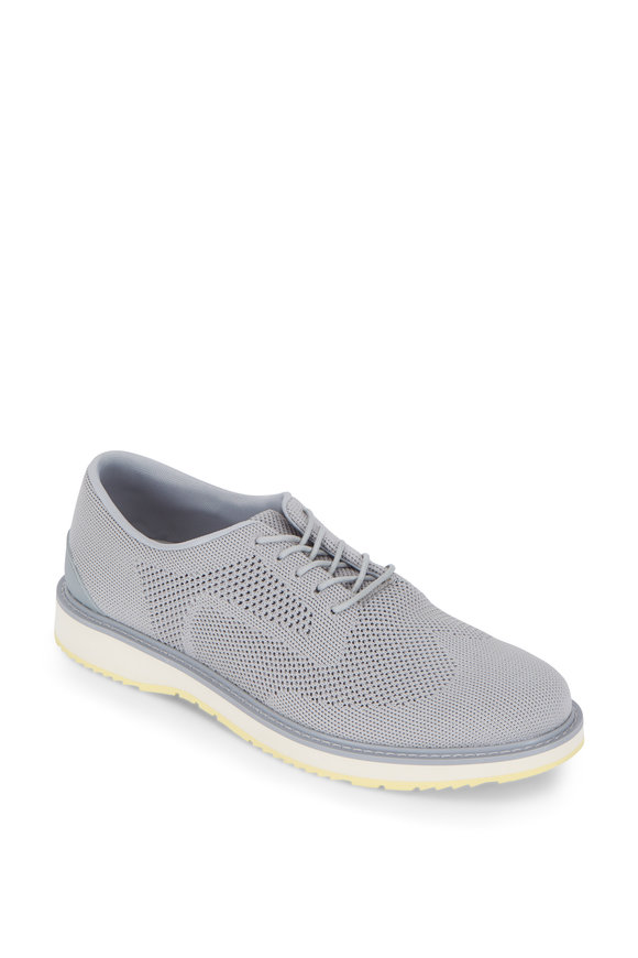 Swims Barry Light Gray Oxford Knit Derby Sneaker