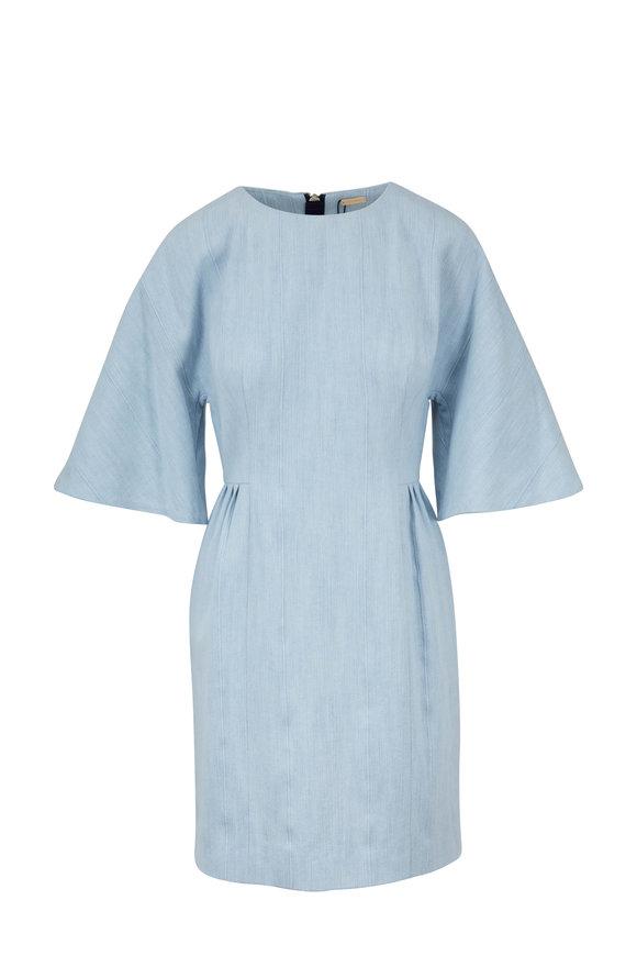 Adam Lippes Light Denim Blue Sculpted Mini Dress