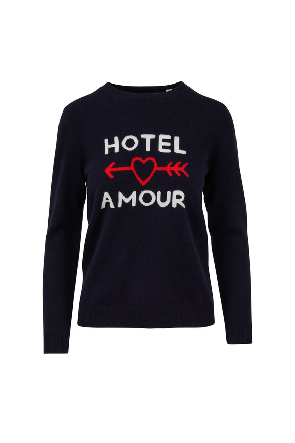 Chinti & Parker Navy Hotel Amour Cashmere Sweater