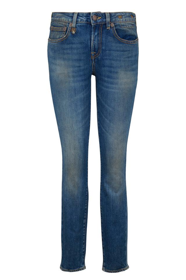Alison Skinny Blue Step Hem Jean