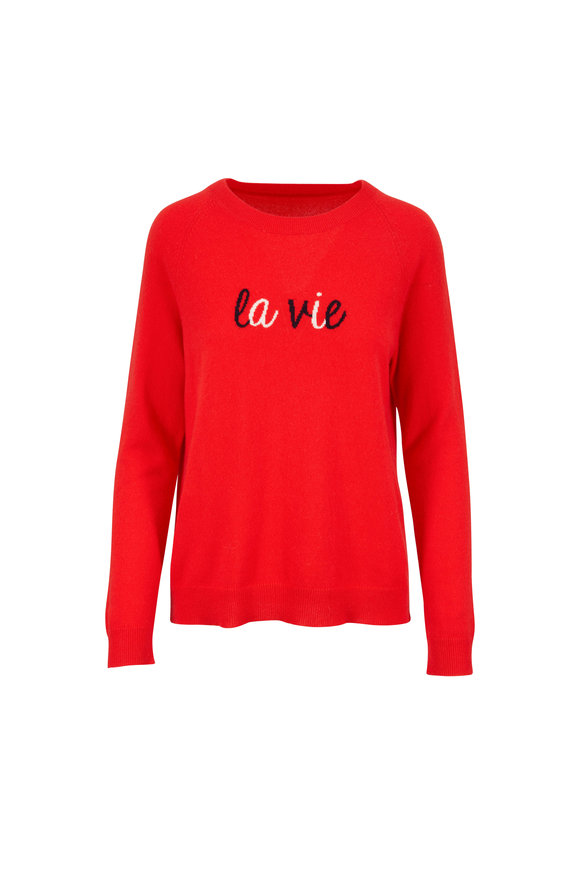 Chinti & Parker Flame Red La Vie Sweater