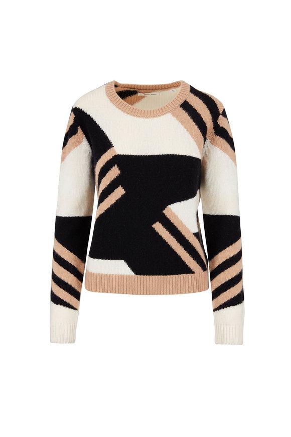 Chinti & Parker Black & Gold Mexicano Striped Sweater