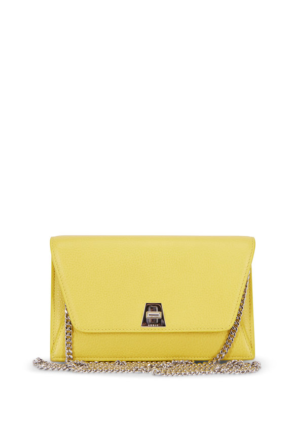 Akris Anouk Yellow Mini Envelope Shoulder Bag