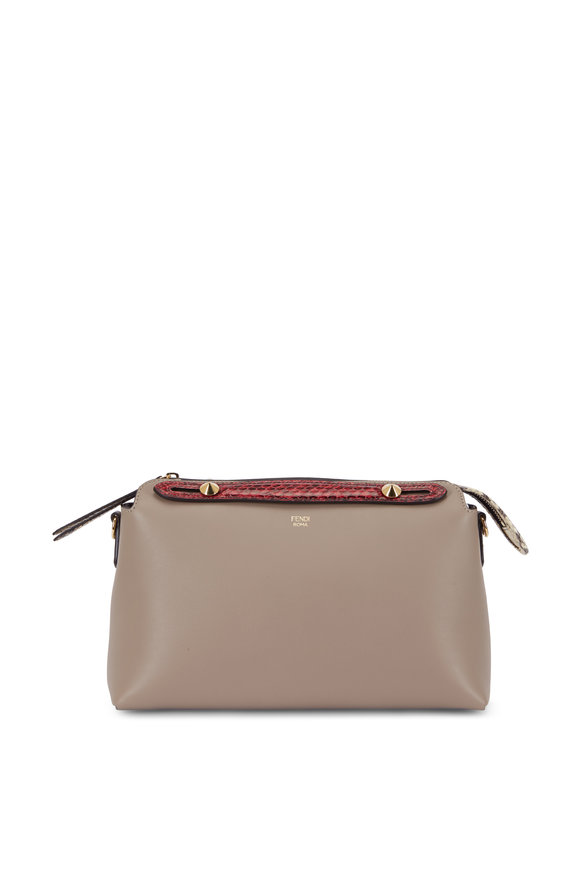 Fendi By The Way Dolce Leather & Snakeskin Boston Bag