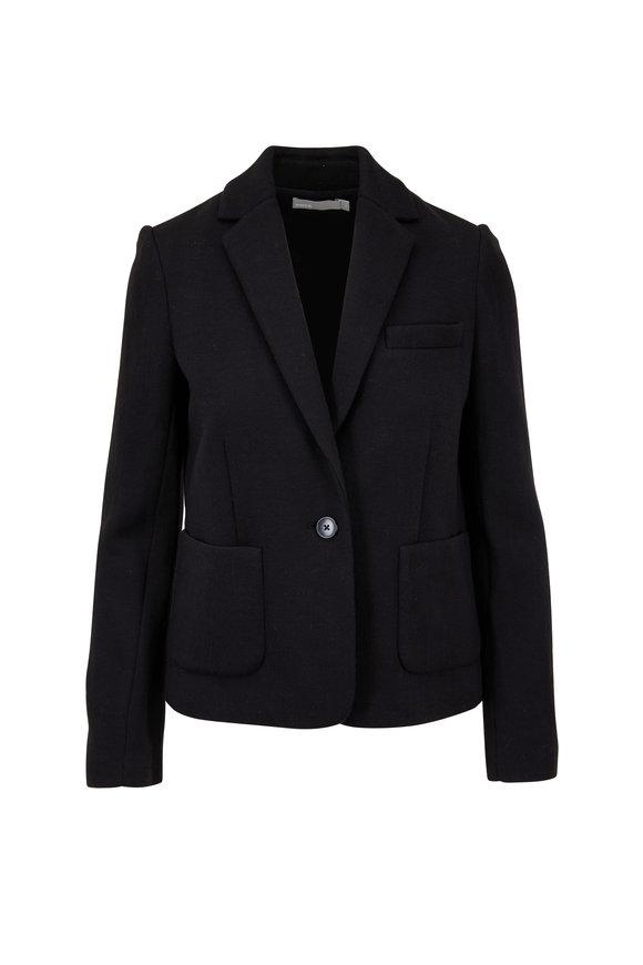 Vince Black Single Button Blazer