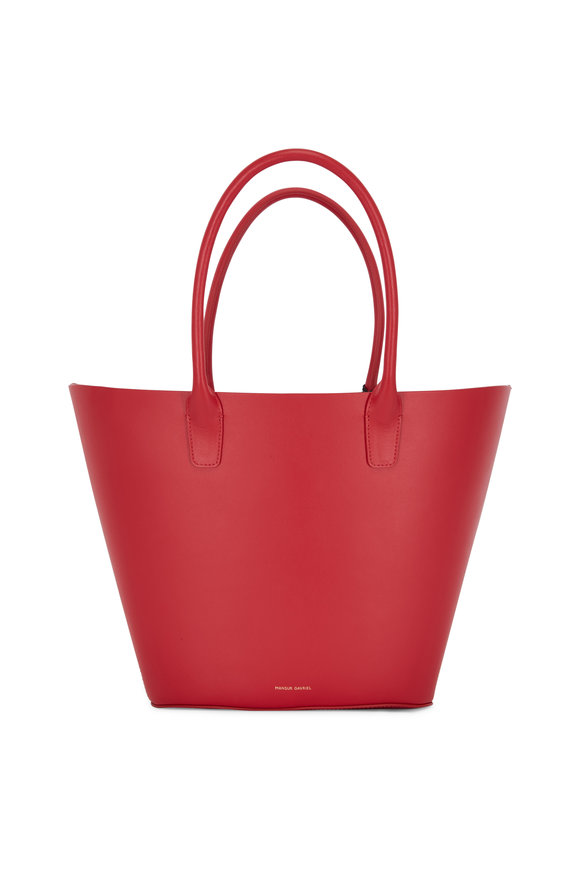 Mansur Gavriel Triangle Flamma Red Medium Tote