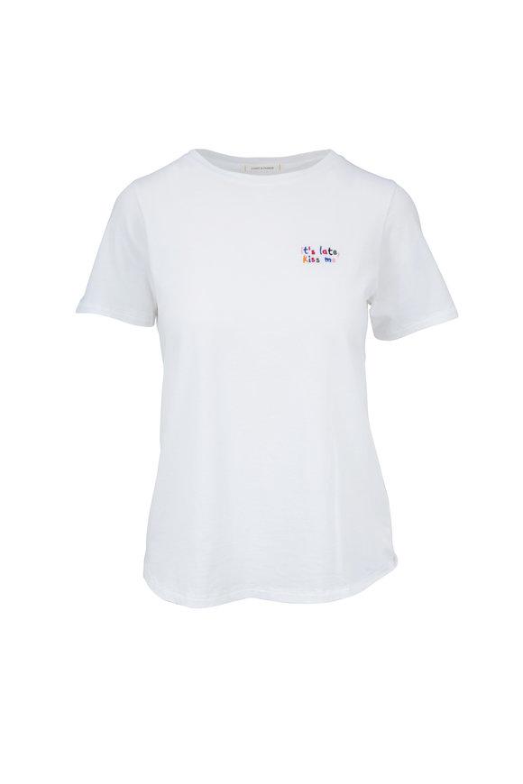 Chinti & Parker White It's Late, Kiss Me T-Shirt