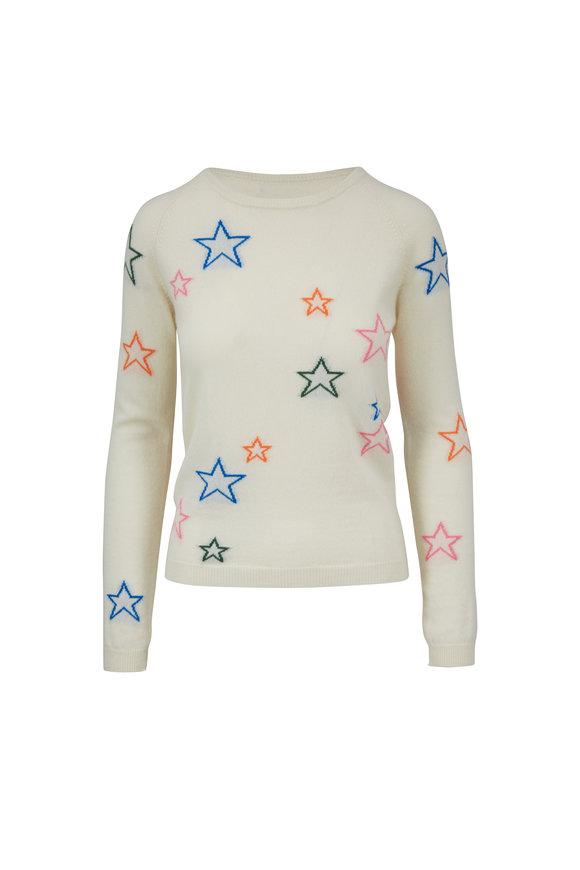 Chinti & Parker Cream 3-D Star Cashmere Sweater