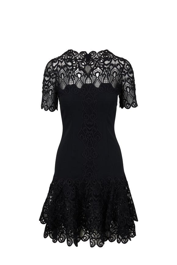 Jonathan Simkhai Black Mixed Media Lace Dress