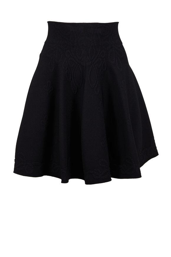 Alexander McQueen Black Jacquard Mini Skirt