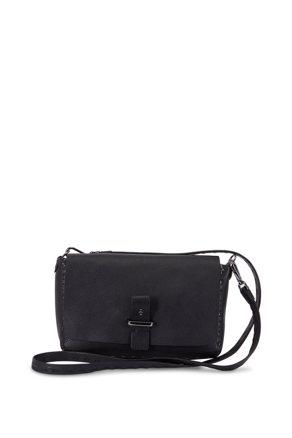 Henry Beguelin Pochette Simply Band Black Small Shoulder Bag