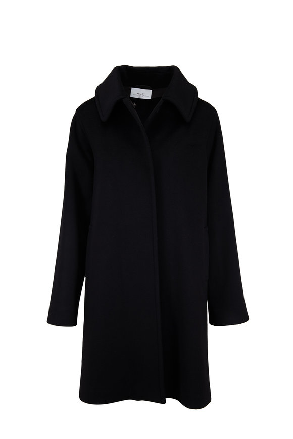 Kiton Clean Black Cashmere Coat