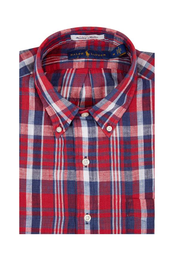 Polo Ralph Lauren Bleeding Madras Short Sleeve Sport Shirt