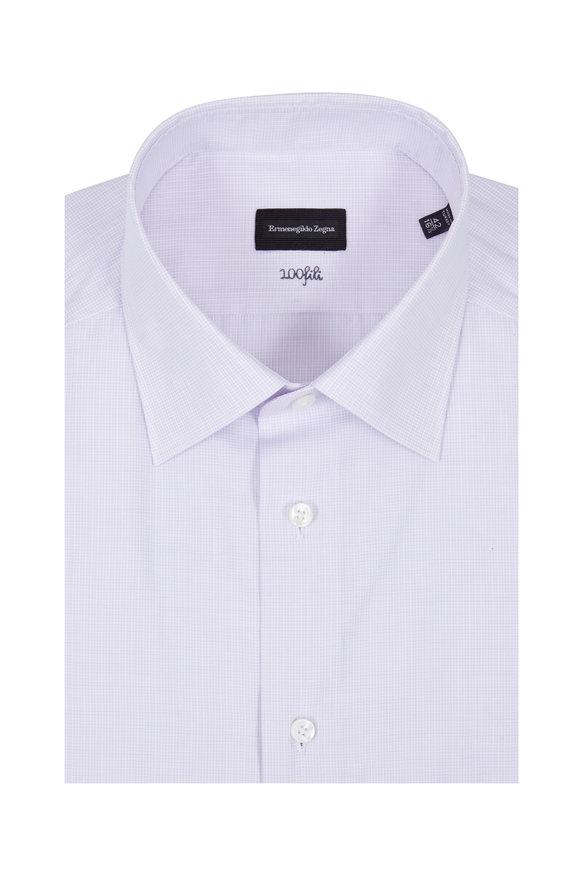 Ermenegildo Zegna Lavender Check Dress Shirt