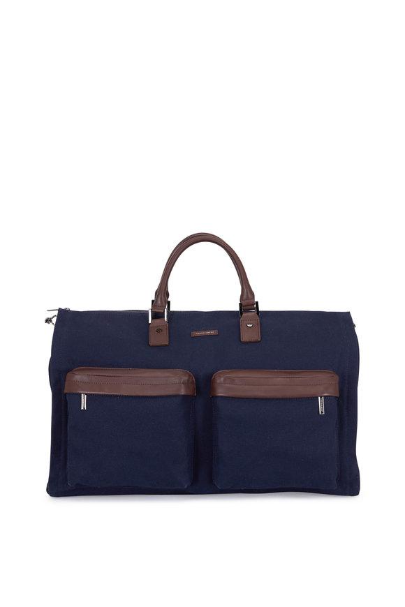 Hook + Albert Navy Blue Performance Fabric Weekender