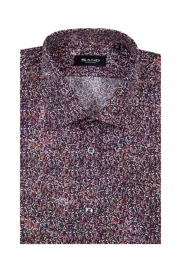 Sand Rose Print Regular Fit Sport Shirt