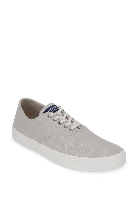 Sperry Captians CVO Light Gray Canvas Sneaker