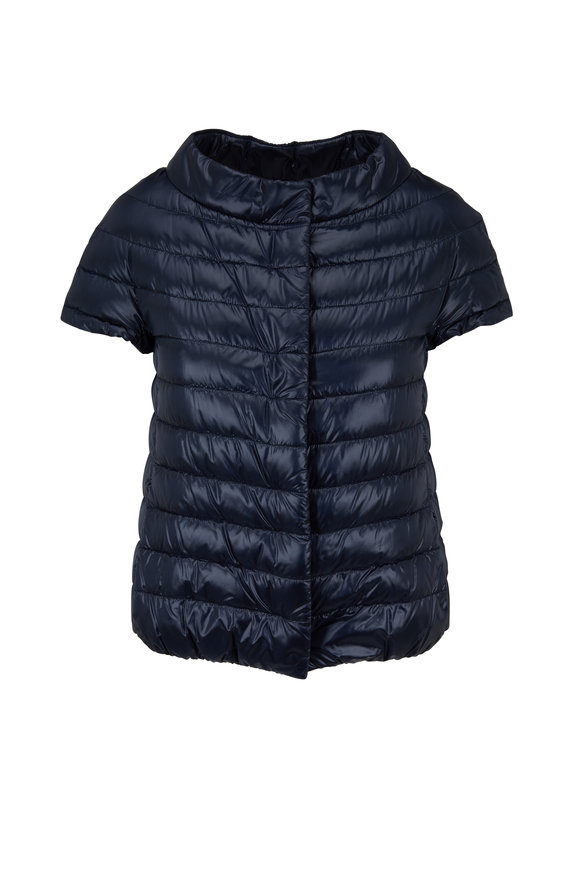 Herno Classic Navy Cap Sleeve Down Jacket