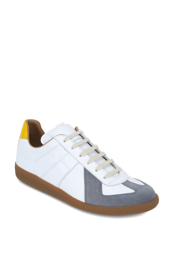 Maison Margiela Replica Tri-Color Leather & Suede Sneaker