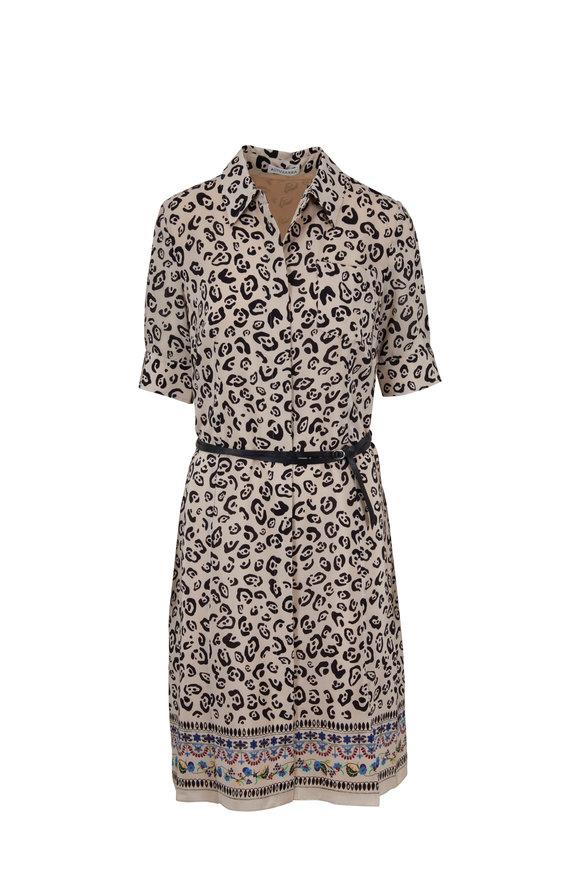 Altuzarra Kieran Crepe De Chine Leopard Print Dress