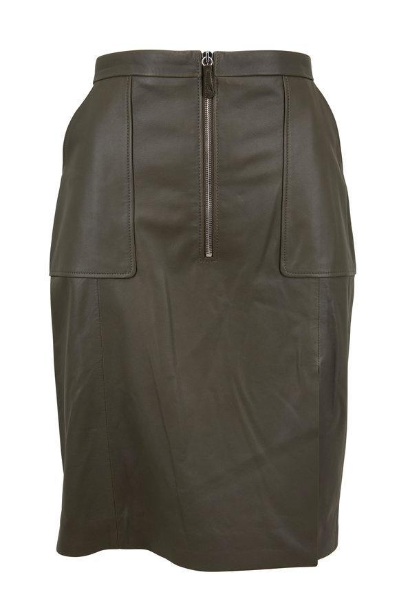 Altuzarra Pine Leather Slit Front Skirt