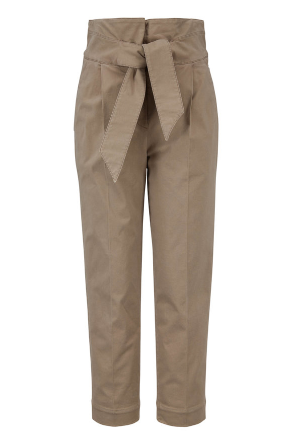Brunello Cucinelli Exclusively Ours! Nutmeg Stretch Cotton Pant