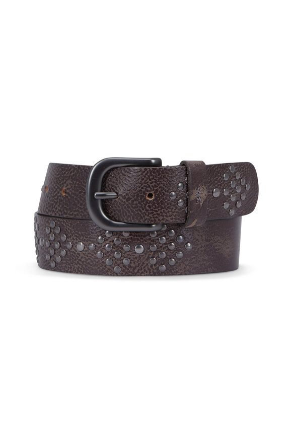 Henry Beguelin Harrow Anthracite Studded Belt