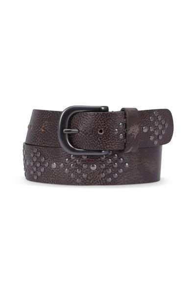 Henry Beguelin - Harrow Anthracite Studded Belt