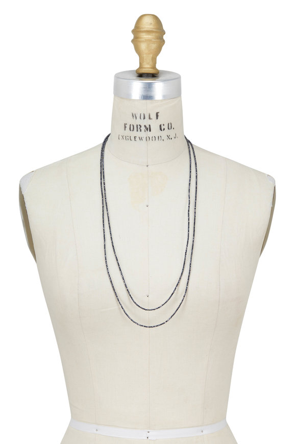 Brunello Cucinelli Blue Stone Wrap Convertible Necklace