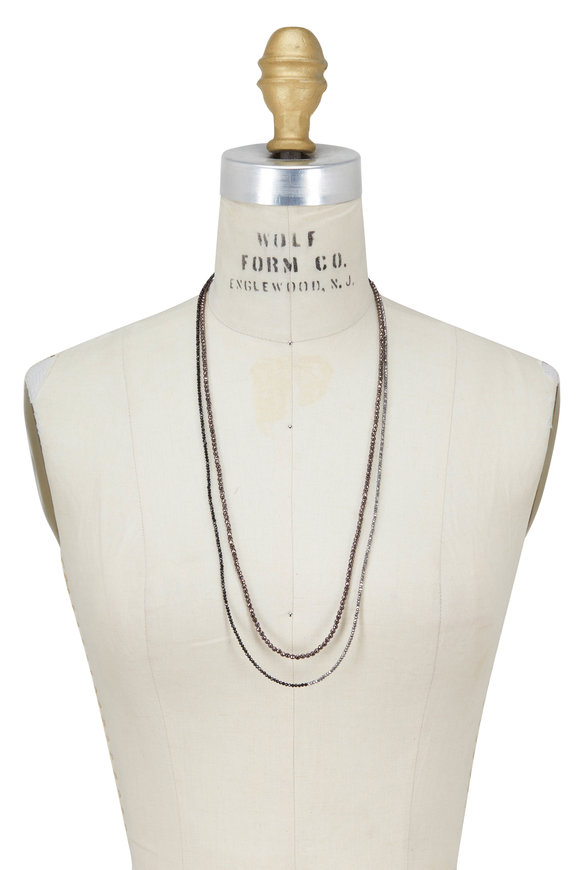 Brunello Cucinelli Fango Multi Stone Wrap Convertible Necklace