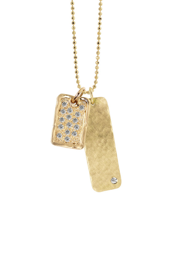 Julez Bryant 18K Yellow Gold Deft & Niki Charm Necklace