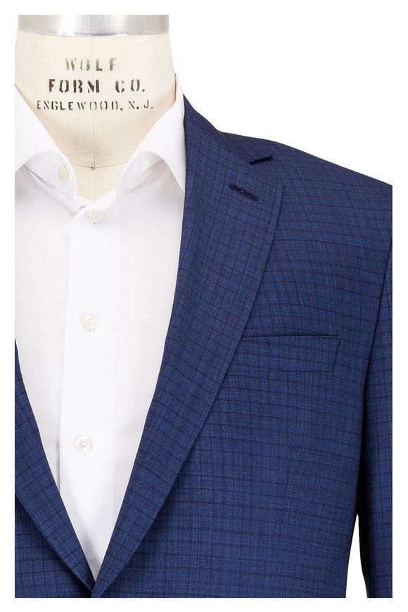 Coppley Navy Medium Check Wool Suit