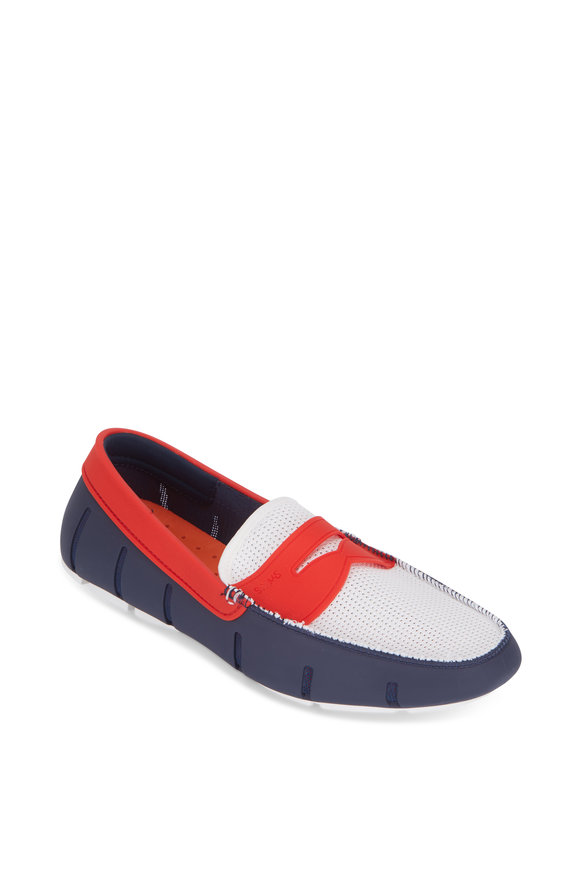 Swims Red, White, & Blue Rubber Penny Loafer