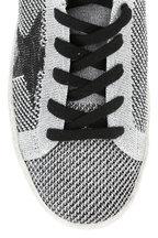 Golden Goose - Women's Superstar Metallic Silver Knit Sneaker