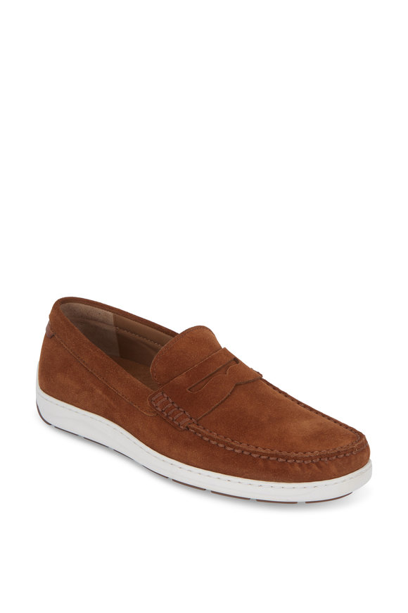 Trask Sheldon Snuff Suede Penny Loafer