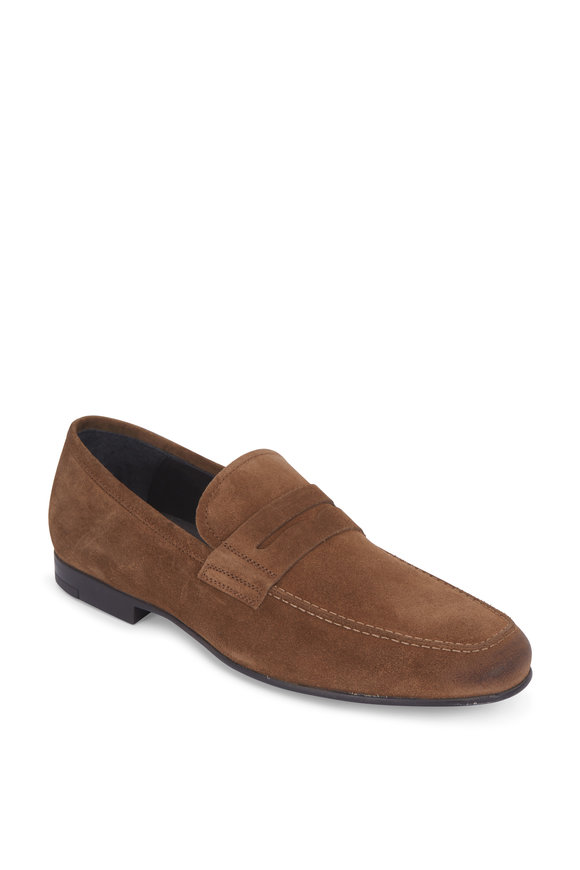 To Boot New York Alek Cigaro Suede Penny Loafer