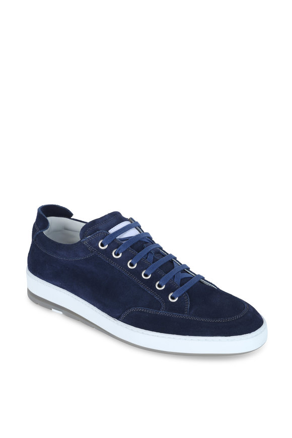 Heschung Travel Navy Blue Suede Sneaker