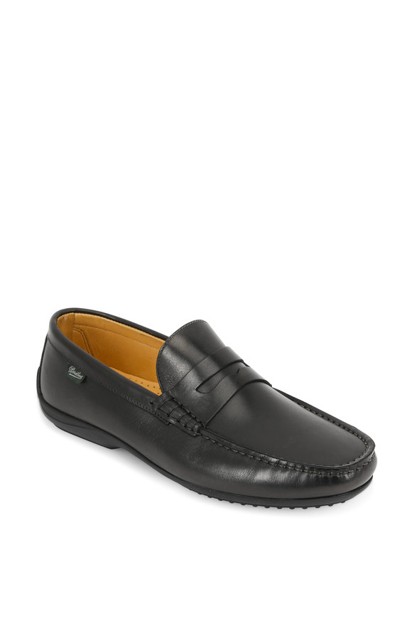 Paraboot Cabrio Black Leather Penny Loafer