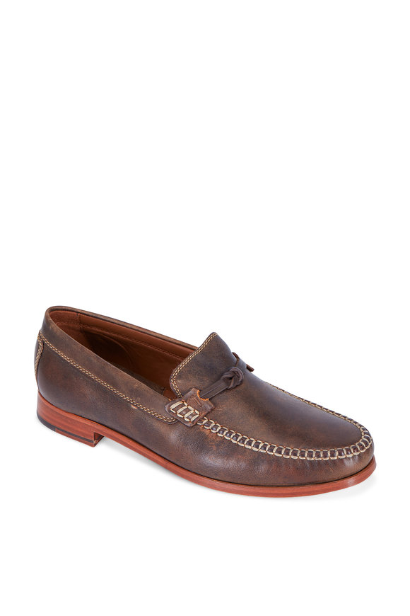 Trask Sawyer Brown Burnished Leather Loafer