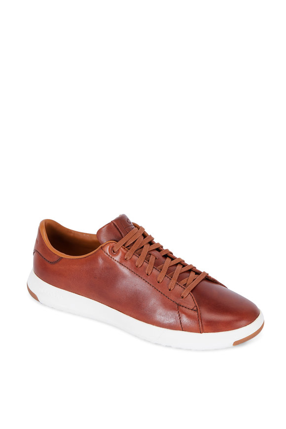 Cole Haan Grandpro Tennis Brown Brunished Leather Sneaker