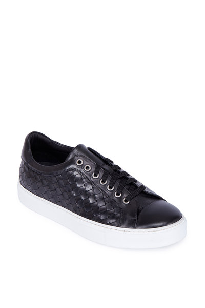 Trask - Rylan Charcoal Gray Hand-Woven Leather Sneaker