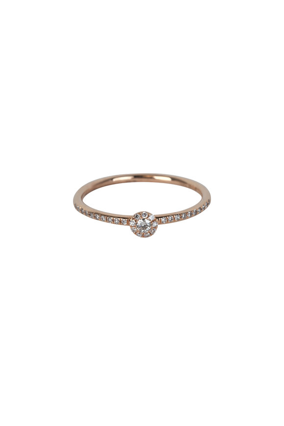 Kai Linz Rose Gold Demi Pavè Disc Ring